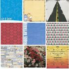 Scrapbook Papers OVER 50% off, 2 sheets/pack 12x12