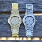 Full Iced Out Men Watches Gold Silver Fashion Luxury Rhinestones Quartz Square