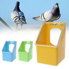 Pet Pigeons Water Food Feeder Bird Cage Hang Feeding Box With Transparency Cover