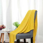 Large Soft Throw Blanket Warm Cable Knit Textured for Bed Sofa Couch Washable