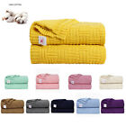 Large Soft Throw Blanket Warm Cable Knit Textured for Bed Sofa Couch Washable image