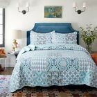 All Season Bedspread Patchwork Pattern Printed Quilt Coverlet Bedding Set Spring image