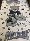NWT VINTAGE CAROLINA PANTHERS BABY TRIPLE WOVEN JACQUARD BLANKET WITH BEAR $29.99 USD on eBay
