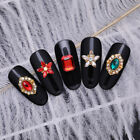 5/10pcs Nail Rhinestones Flower Patterns Red Stones Nail Art 3D Decoration Tip