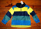 New Boys THE CHILDREN'S PLACE Blue & Yellow Stripe Fleece PullOver Casual Shirt