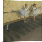 ARTCANVAS Dancers Practicing at the Barre 1877 Canvas Art Print by Edgar Degas