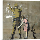 ARTCANVAS Girl and a Soldier Canvas Art Print by Banksy