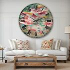 Designart 'Flower Shower III' Cabin & Lodge Large Wall CLock