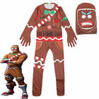Boys Girls Video Game Costume Cosplay Fancy Dress Kids Jumpsuit Age 5-18