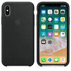 Original Silicone Case Luxury For Apple iPhone X 8 Plus  7 6 Genuine OEM Cover
