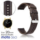 Genuine Leather Replacement Band Strap for Moto 360 Men's 42mm only Smartwatch