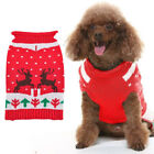 Dog Knit Warm Sweater Winter Cloth Holiday Xmas Themed Pet Turtleneck Clothes