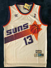 Phoenix Suns Steve Nash 13 White Mens Basketball Throwback Jersey Size: S M L XL