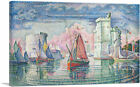 ARTCANVAS Port of La Rochelle 1921 Canvas Art Print by Paul Signac