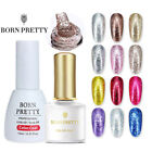 BORN PRETTY Glitter UV Gel Nail Polish Soak off Silver Sand Platinum Nail Art