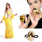 2pcs Women Copper Belly Dance Finger Cymbals Zills Costume Dress Accessories LY