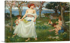 ARTCANVAS A Song of Springtime Canvas Art Print by John William Waterhouse