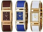 Caravelle New York Womens Two-Tone Bangle Watch