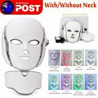 LED Light Photon Face Mask Rejuvenation Skin Facial Therapy Wrinkle 7 Colours AU $74.84 AUD on eBay