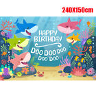 Photography Backdrop Studio Props Pattern Accessories Kit Shark Birthday Party