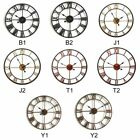Fashion Large 3D Wall Clocks Roman Numerals Round Wrought Iron Clock Home Decor