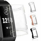 Full Cover Silicone Film Screen Protector & TPU Case For Fitbit Charge 3 Watch