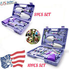 Garden Tool Set 5-10 Pieces Hand Tools With Purple Floral Print +carrying Case