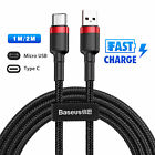 Micro USB/Type C Cable Fast Charging Cord for Samsung Galaxy S10 S9 S8 Note 9 8