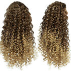 Synthetic Kinky Curly Drawstring Ombre Ponytail Extensions Short Afro Bun Pony
