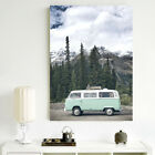 Travel Bus Wall Art Picture Unframed Modern Canvas Print Painting Home Deco