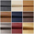 Kyпить 1/3/5 Yards Solid Faux Leather Fabric Upholstery Pleather Marine Vinyl  54