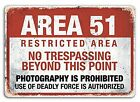 AREA 51 Metal Wall Sign Plaque Art  Metal Tin Sign