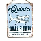 Quint's Shark Fishing  Jaws 80s Movie Poster Metal Wall Sign Plaque Art