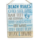 Beach Rules Metal Tin Sign Plaque Art