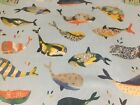 Whale Watching  Ocean  Blue 140cm wide Curtain/Craft Fabric