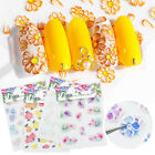 5D Nail Stickers Daisy Patterns Self-adhesive Nail Art Design Transfer Decals