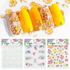 5D Nail Stickers Embossed Flowers Self-adhesive Decals Nail Art Decorations