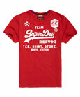 New Mens Superdry Classic Limited Edition Football TShirt Kick Off Red