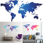 Colorful Large World Map Removable Vinyl Decal Wall Sticker Home Art Room Decor