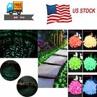 100Pcs Glow in Dark Pebbles Stone Garden Walkway Aquarium Fish Tank Valentine for sale  Shipping to South Africa