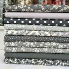 Sew Grey 10 piece 100% cotton fabric bundles for patchwork & sewing