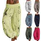 Women Baggy Hare Pants Hippie Wide Leg  Yoga Boho Long Palazzo Trouser