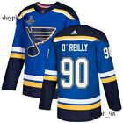 St Louis Blues 90 Ryan OReilly Blue Jersey 2019 Stanley Cup Champions Final