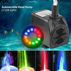 Electric Fountain Submersible Water Pump 12 LED Lights for Garden Pond Pool GIFT