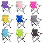 Folding Camping Chair Festival Garden Foldable Fold Up Seat Deck Fishing