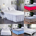 Elastic Bed Skirt 40cm Height Bedspread Dust Ruffles Twin Full Queen King Size image