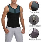 Neoprene Sauna Vest for Men Sweat Shirt Waist Trainer Body Shaper Slim Suit GIFT