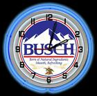 """Busch Beer 19"""" Double Neon Clock from KDL"""