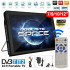 Freeview 1080P HDMI HD 10'' Portable TV Digital Television Player PVR/USB 12V