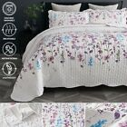 Bedsure Lightweight Quilt Set Queen/ Full Soft Lilac Floral Print Coverlet Set image